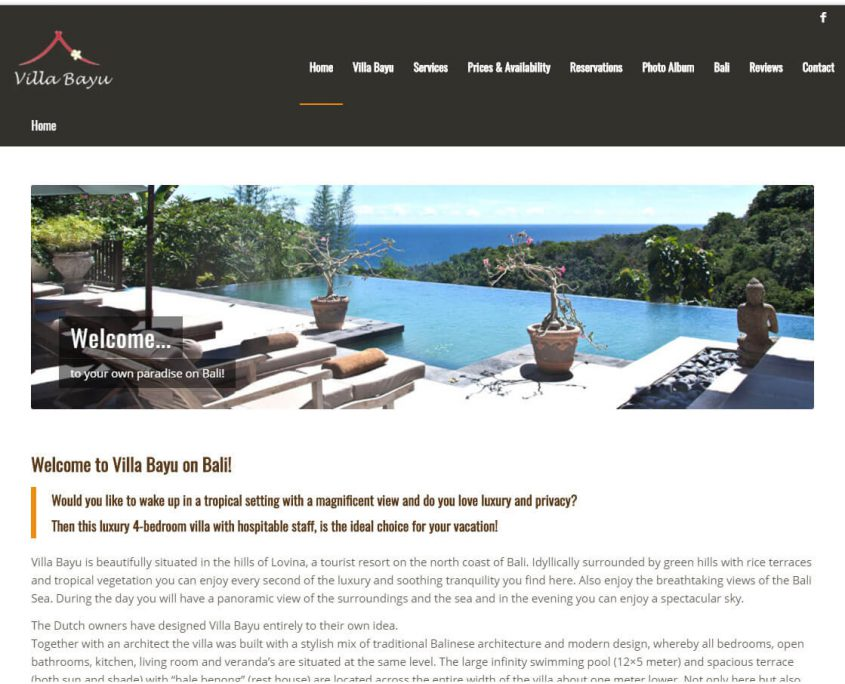 Welcome to Villa Bayu on Bali!